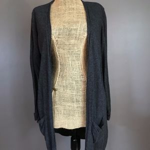 Long Dark Gray Cardigan